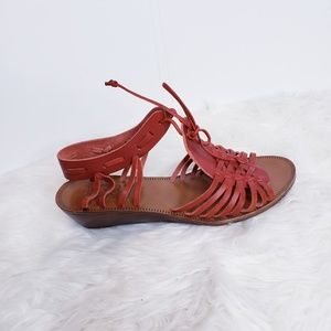 Madewell 1937 Footwear Red Leather sandals sz. 8